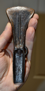 A huge, rare and excellent Mid Bronze Age, bronze Palstave Axe with decorative blade, Portsmouth, Hampshire. SOLD